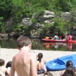 Kayak en Villa General Belgrano por el río Los Reartes.