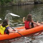Kayak por el río Los Reartes cerca de Villa General Belgrano